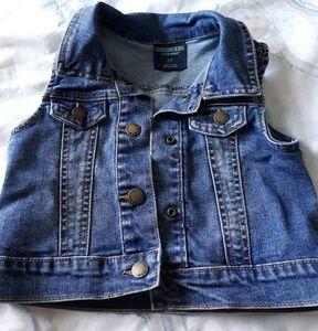 Blue jean vest jacket